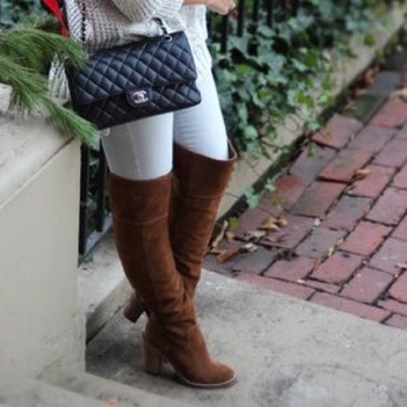 Steve Madden Over The Knee Orlando Leather Boots 8